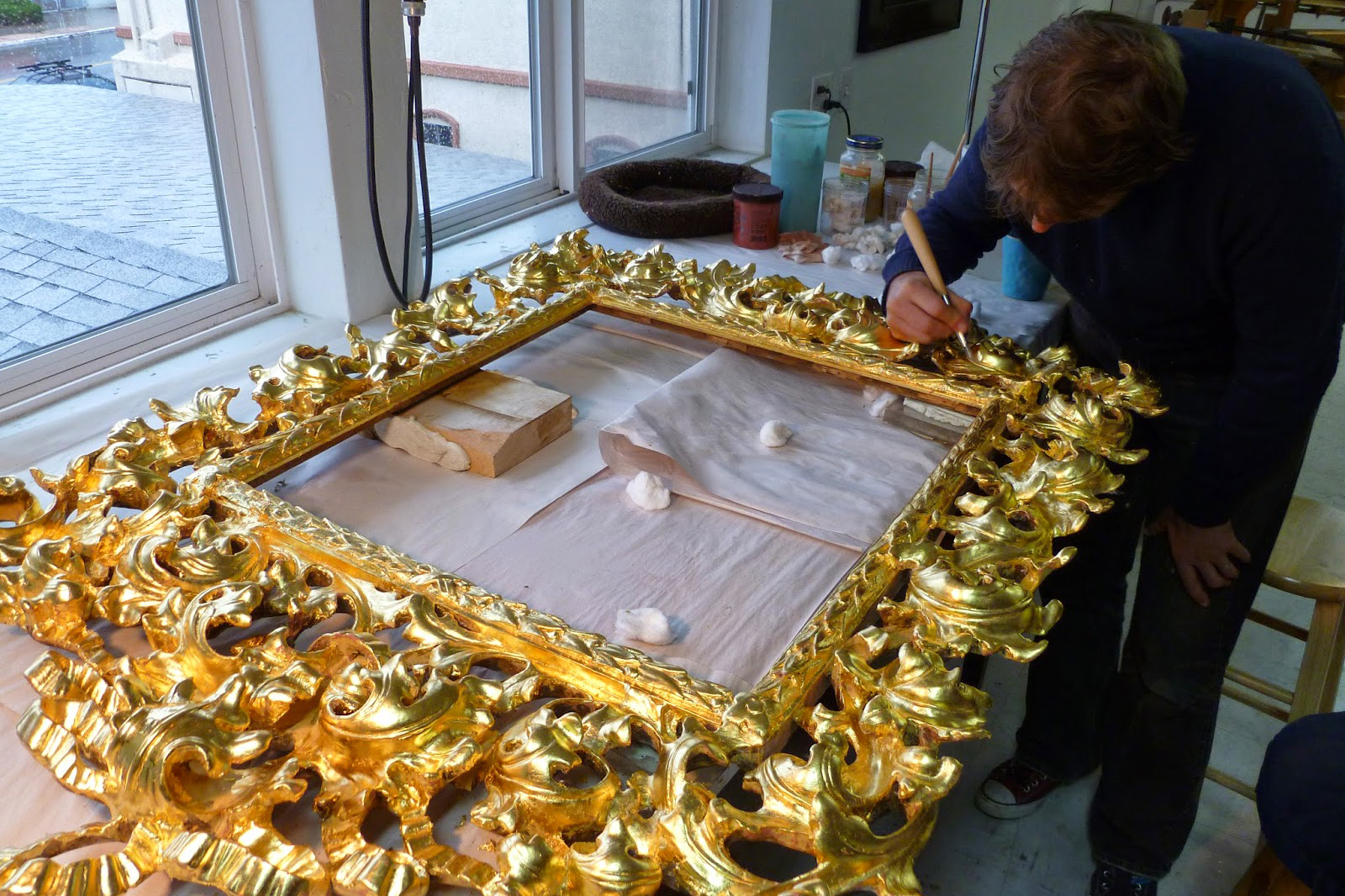 Gilding burnishing