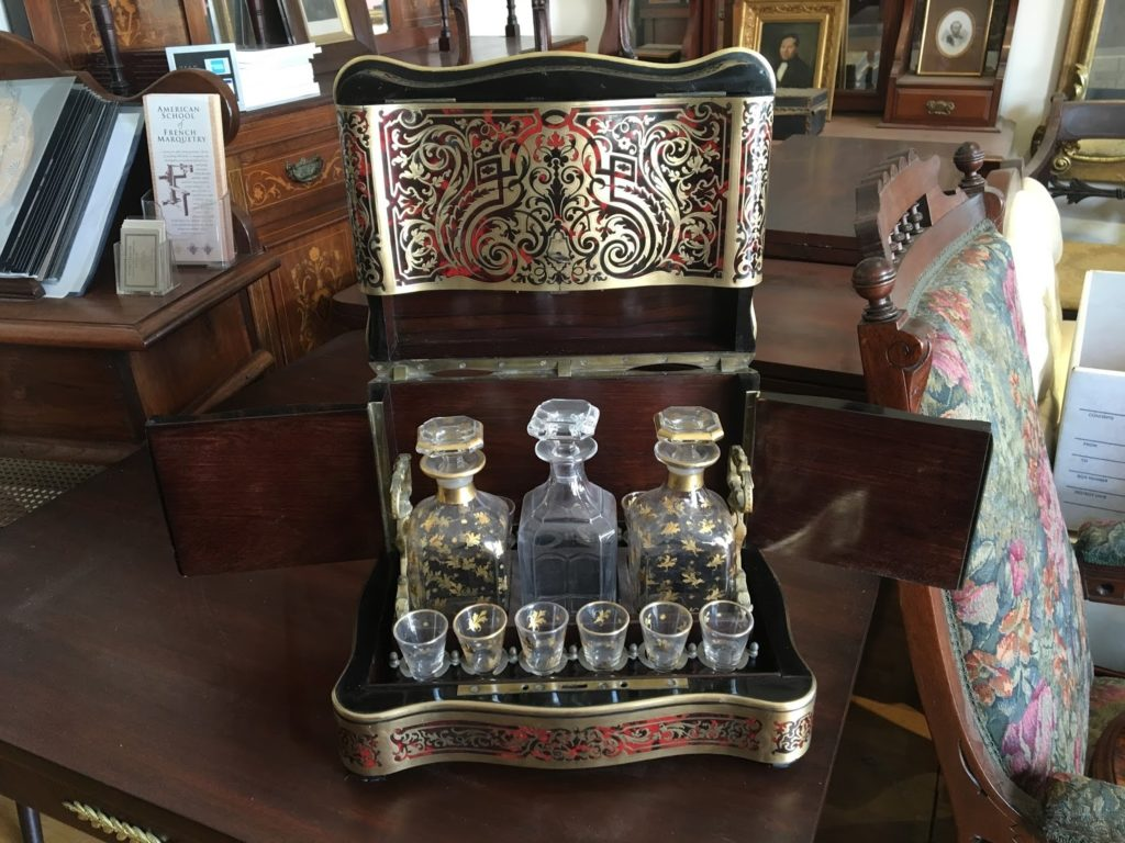 Boulle decanter Baccarat