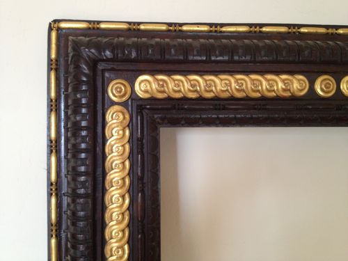 Frame with gilded molding applied