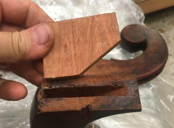 Mahogany replacement tenon