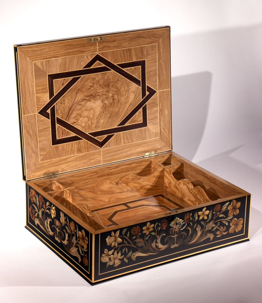 marquetry box inlay